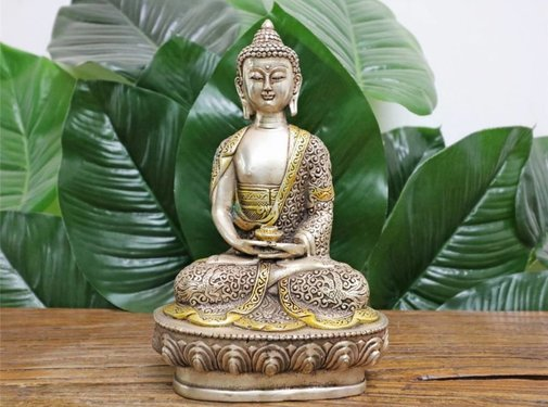 Yajutang Medizin Buddha ausTibetsilber