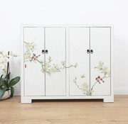 Yajutang Shoe cabinet hand-painted pattern  white