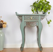 Yajutang Chinesische Kommode Tisch Sideboard Blau-grau
