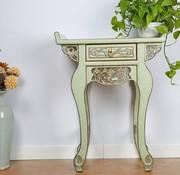 Yajutang Chinesische Kommode Tisch Sideboard Grün-grau