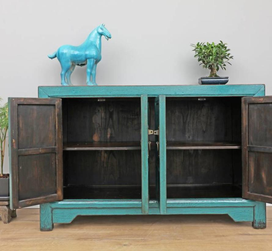 Antique Sideboard Chinese Dresser turquoise