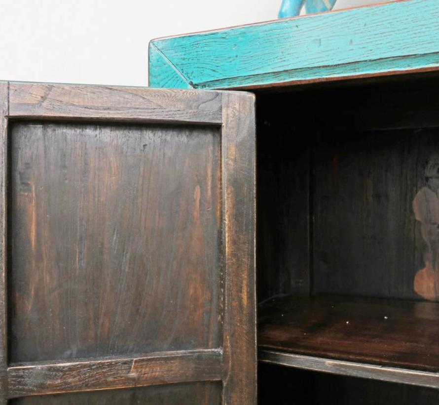 Antikes Sideboard chinesische Kommode türkis