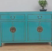 Yajutang Chinese sideboard chest of drawers 4 doors türkis