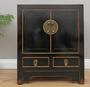 Yajutang Chinese dresser cabinet 2 Türen black