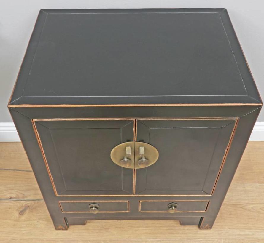 Chinese dresser wedding cabinet cupboard 2 Türen black