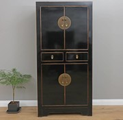 Yajutang Chinese wedding cupboard 4 doors black