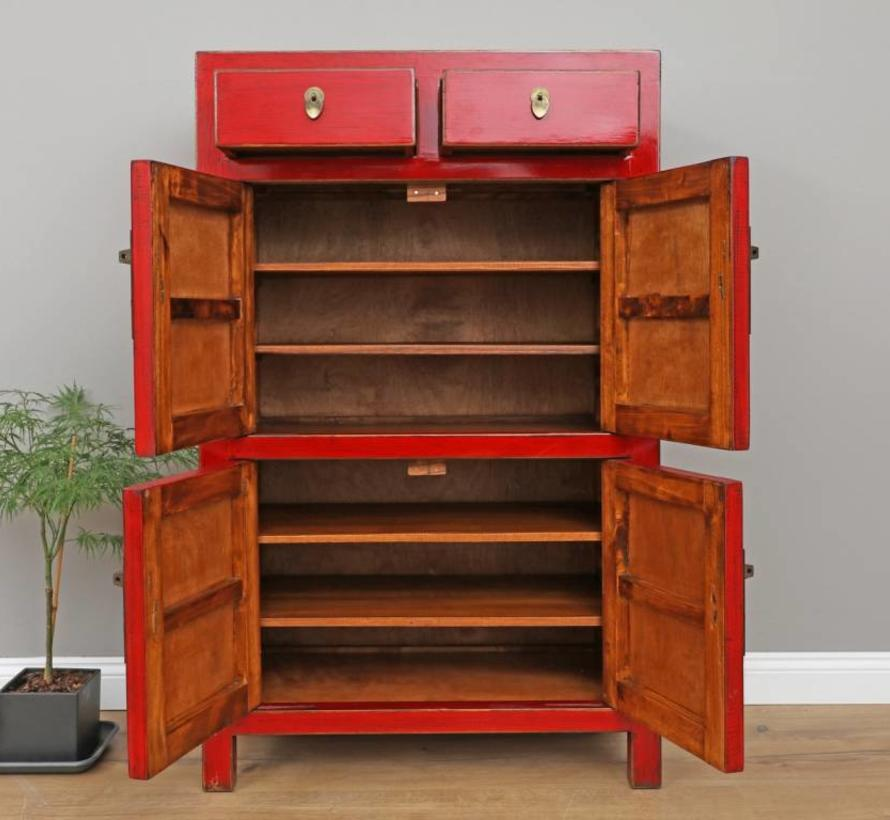 Chinese dresser wedding cabinet cabinet solid wood red