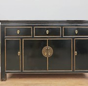 Yajutang Chinese sideboard 4 doors 3 drawers black