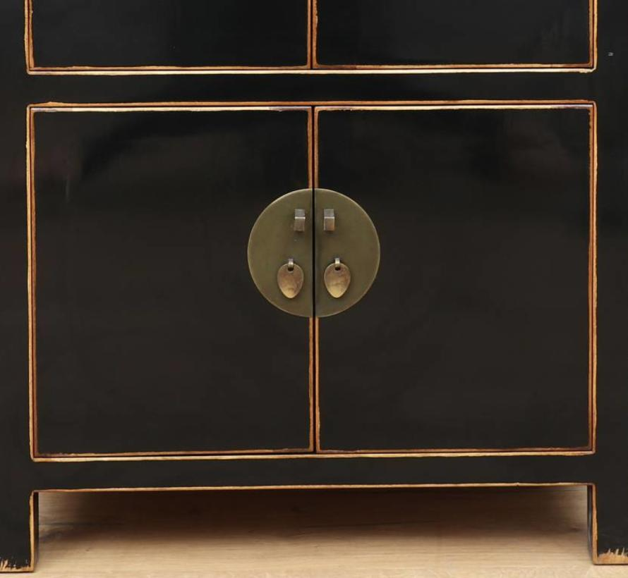 Chinese dresser shoe cabinet closet solid wood  Black