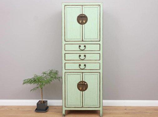Yajutang Chinese Wedding Cabinet 4 Doors 3  Drawers mint
