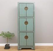 Yajutang Chinese wedding cupboard 6 doors light blue