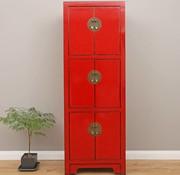 Yajutang Chinesischer Hochzeitschrank 6 Türen rot