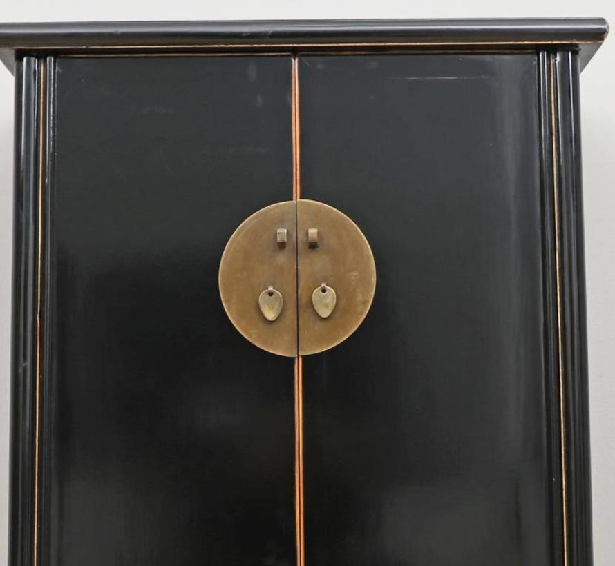 Chinesischer Hochzeitsschrank 2 Türen  schwarz