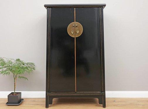 Yajutang Chinese Wedding Cabinet 2 Doors  black