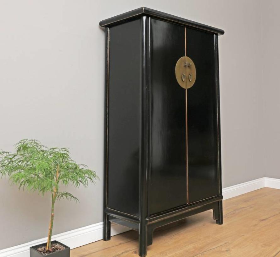 Chinese wedding cupboard 2 doors  black