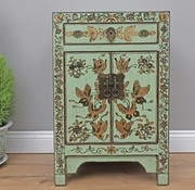 Yajutang Chinese chest of drawers 1 drawer 2 doors painted mint