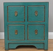 Yajutang Chinese chest of drawers 4 drawers turquoise