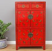 Yajutang Dresser 2 drawer 4 doors painted red