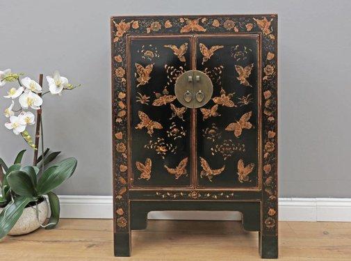 Yajutang Dresser 2 doors painted black