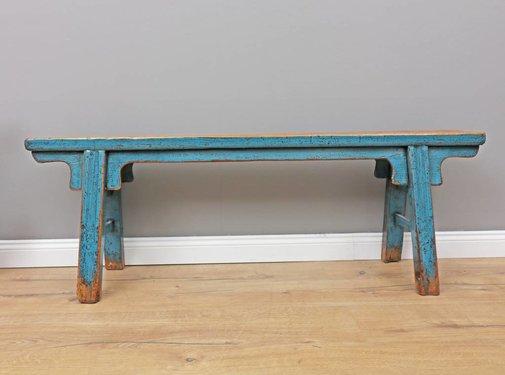 Yajutang Antiker chinesischer Sitzbank blau
