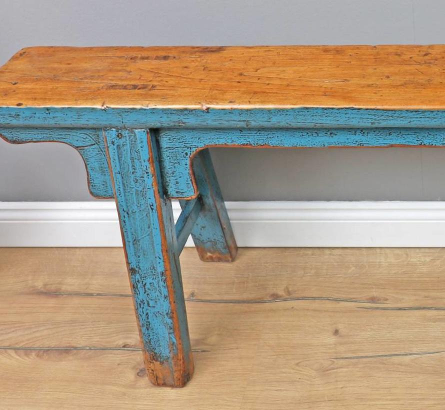 Wondrous Antique Chinese Bench Blue Yajutang Mobel Gmbh Unemploymentrelief Wooden Chair Designs For Living Room Unemploymentrelieforg