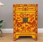 Yajutang chinesische Kommode 1 Schublade 2 Türen bemalt gelb