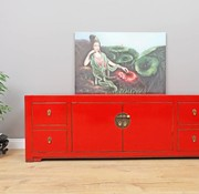 Yajutang Sideboard 2 doors 4 drawers red