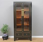 Yajutang Showcases cabinet 2 doors 2 drawers black