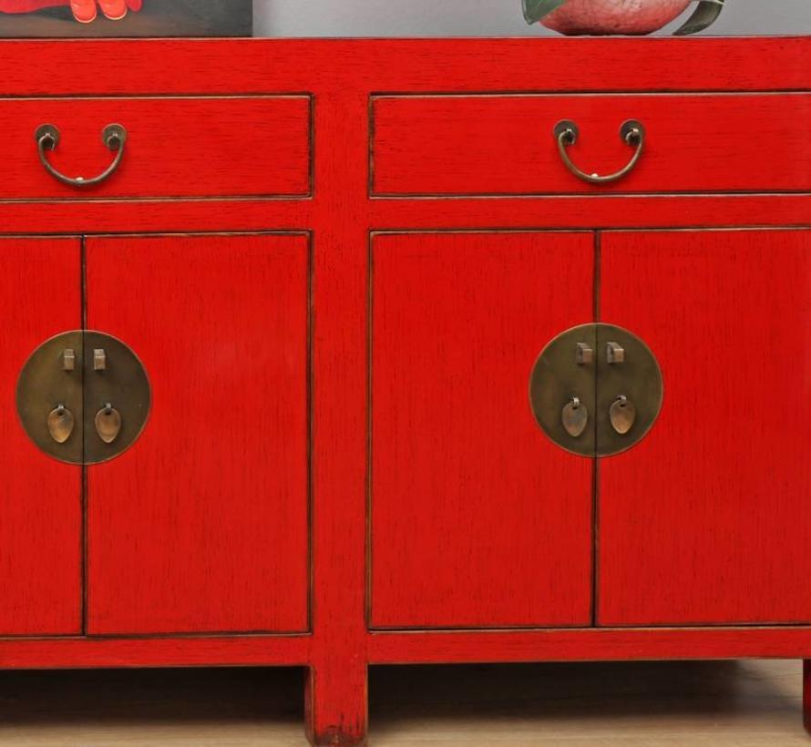 Chinese Sideboard 6 Doors 3 Drawers Red Yajutang Mobel Gmbh