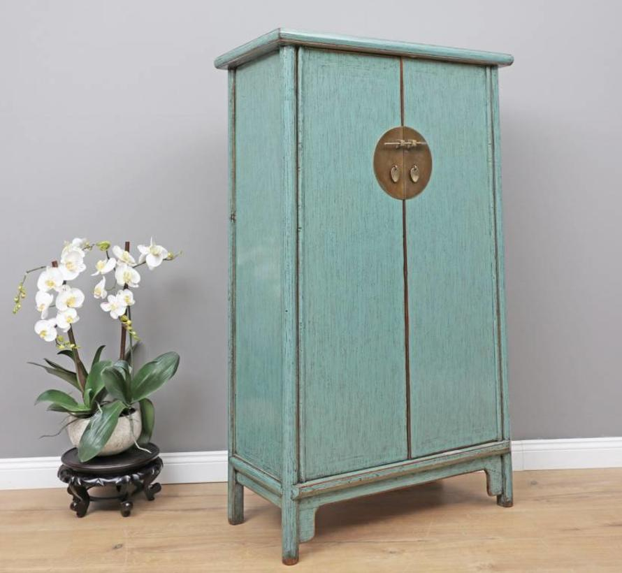 Chinese wedding cabinet 2 doors light blue
