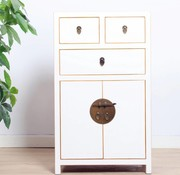 Yajutang Chest of drawers 3 drawers 2 doors white