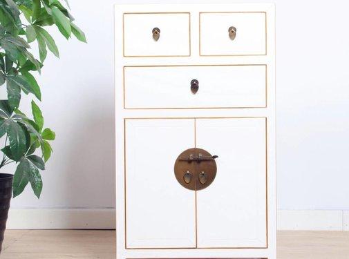 Yajutang Chest of drawers 3 drawers 2 doors white