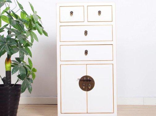 Yajutang Chest of drawers 4 drawers 2 doors white