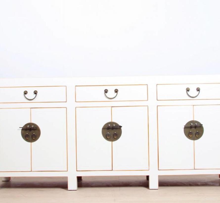 chinesisches Sideboard 6 Türen 3 Schubladen weiß | Yajutang ...