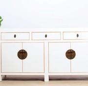 Yajutang Sideboard 4 Türen 3 Schubladen weiß