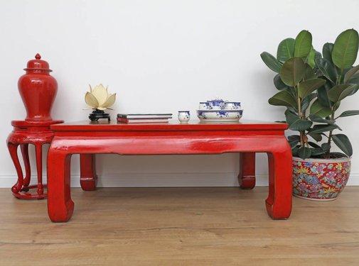 Yajutang Tisch Couchtisch Sofatisch Opium Massivholz rot