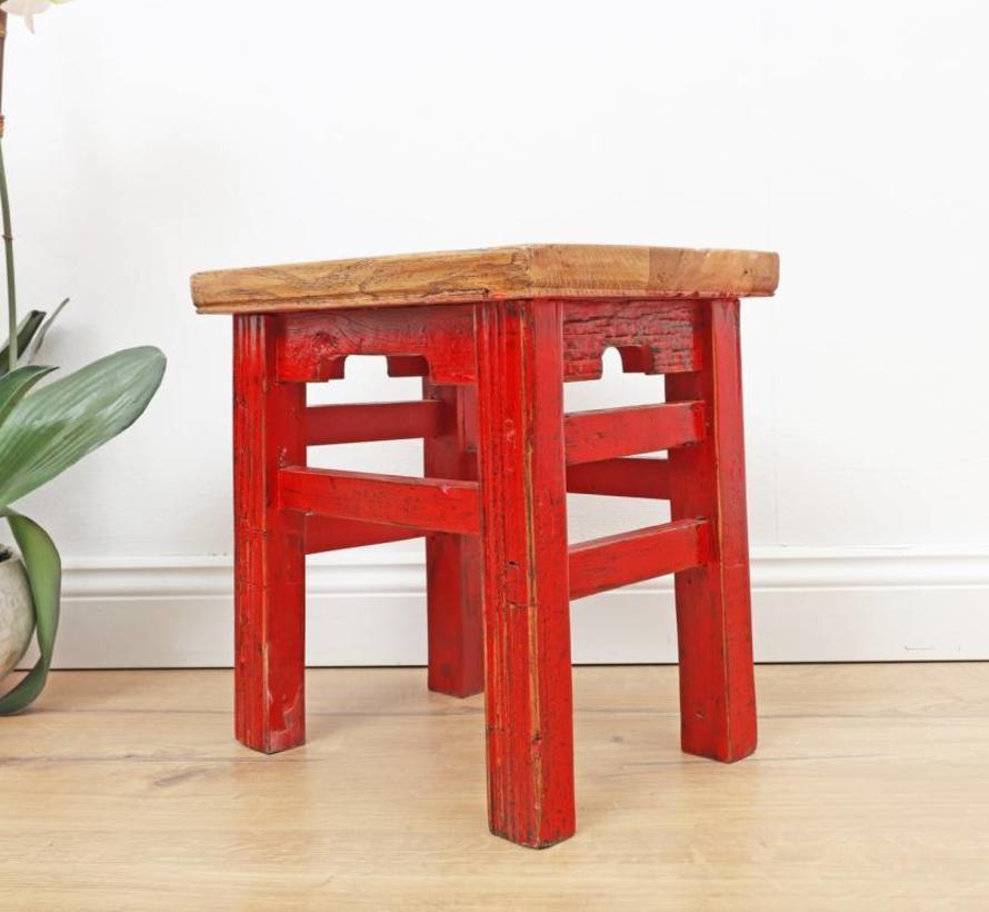 Hocker Blumentisch Meditationssitz Beistelltisch rustikal elegant