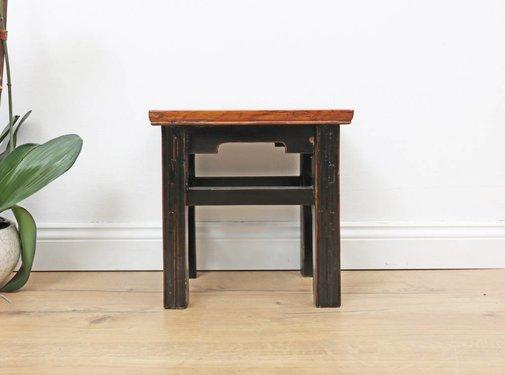 Yajutang Chinese stool flower table meditation seat side table black