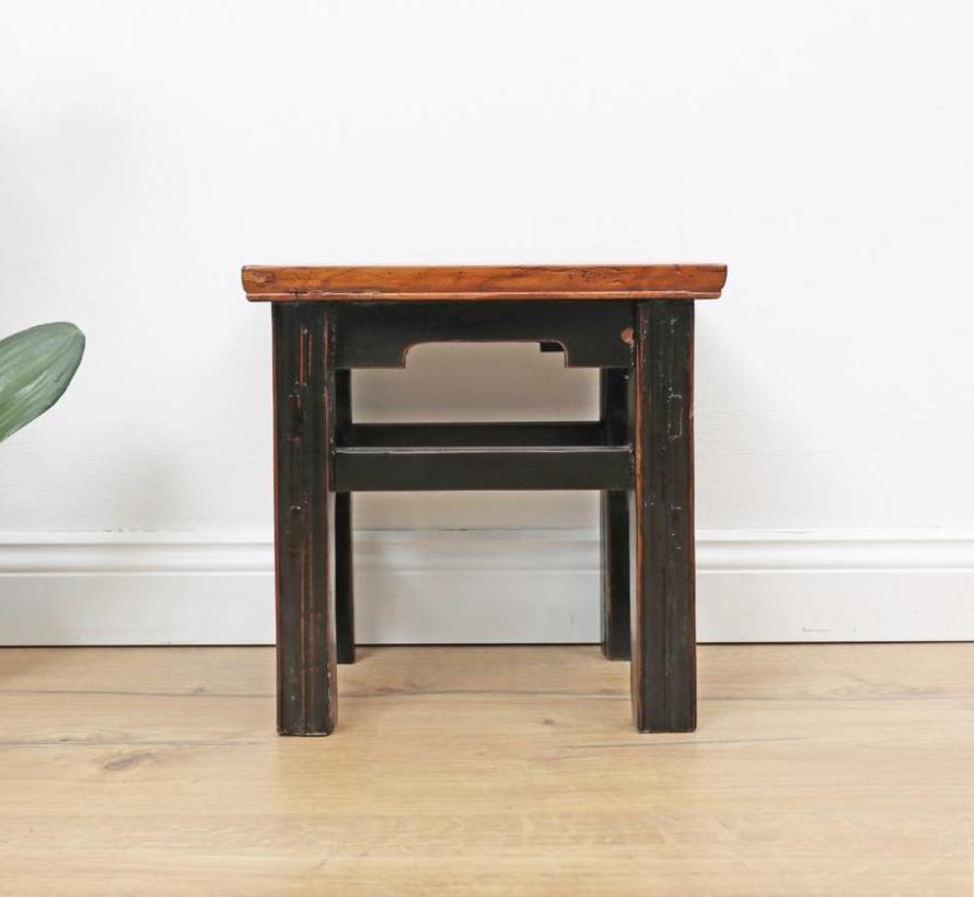 stool flower table meditation seat side table rustic elegant