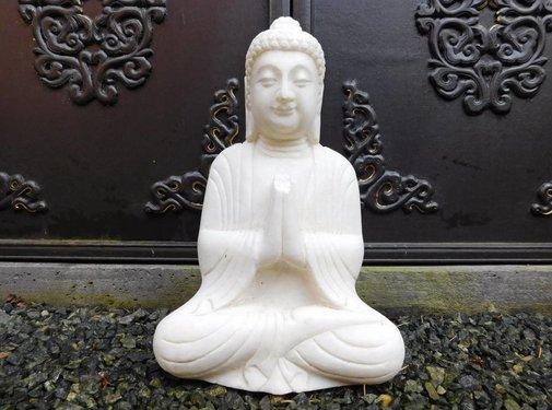 Yajutang Marmor Buddha Figur Statue Garten Dekor
