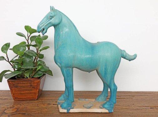 Yajutang Tang horse terracotta turquoise