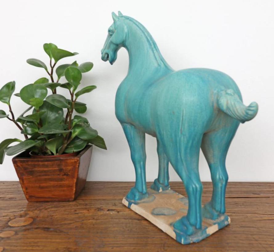 Tang horse terracotta feng shui symbol endurance victory turquoise
