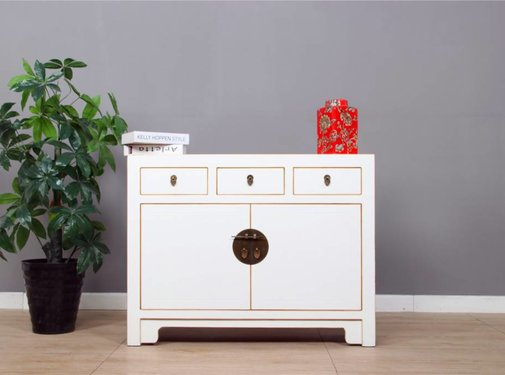 Yajutang Sideboard 2 doors 3 drawer white lacquer