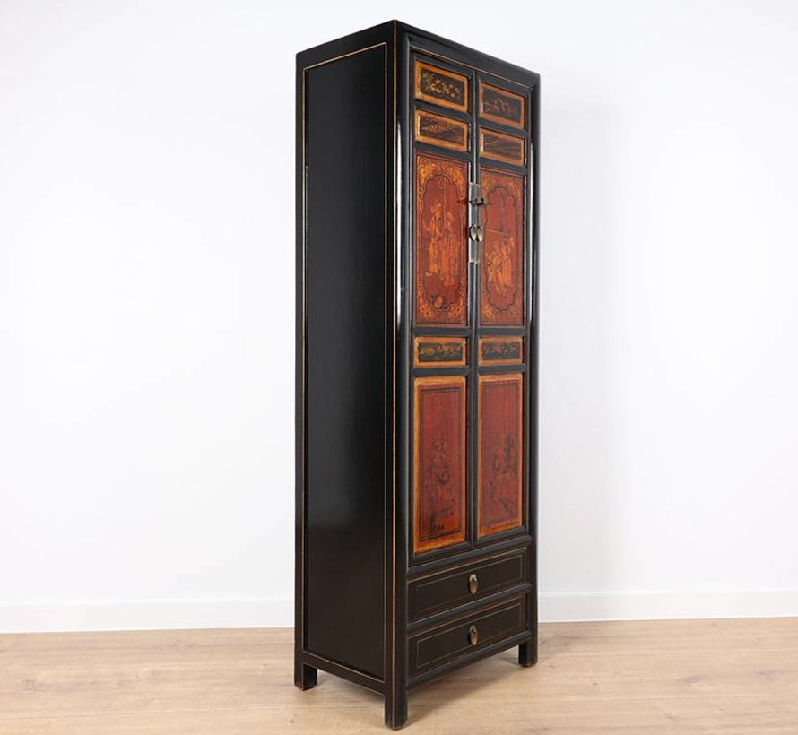 Chinese cabinet painting Oriental / Asian style with two doors