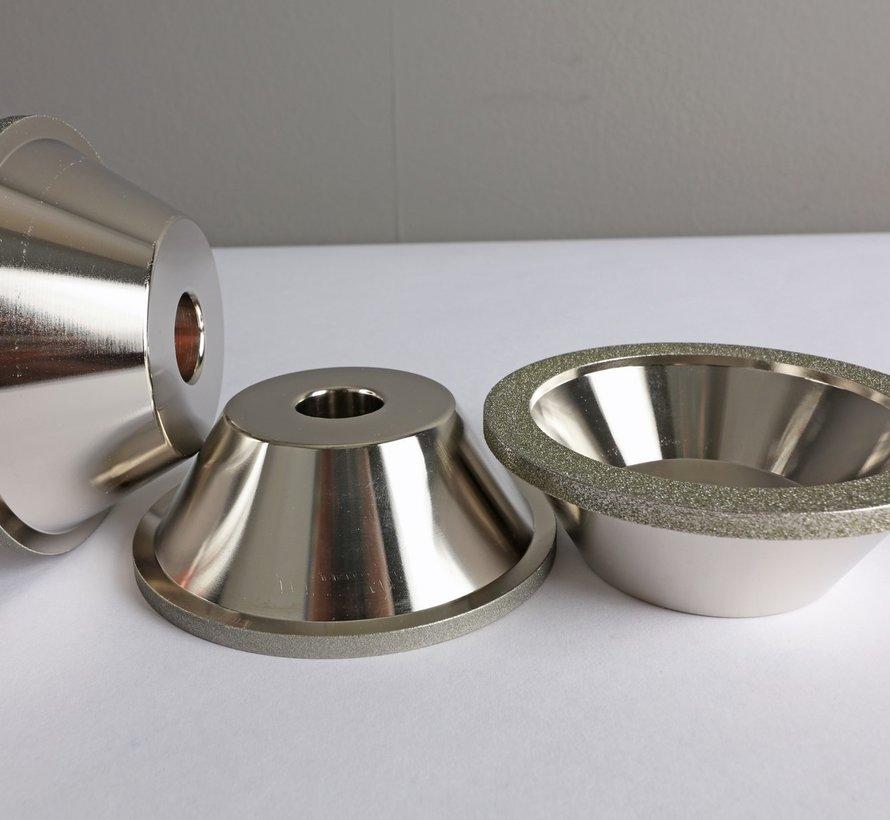 Diamond grinding wheel in bowl shape Grid 100 (coarse)
