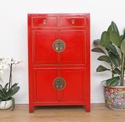 Yajutang Chinese dresser cupboard 4 doors red