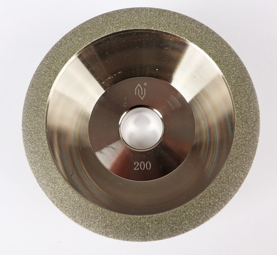 Diamond grinding wheel in bowl shape Grid 200 (middle)