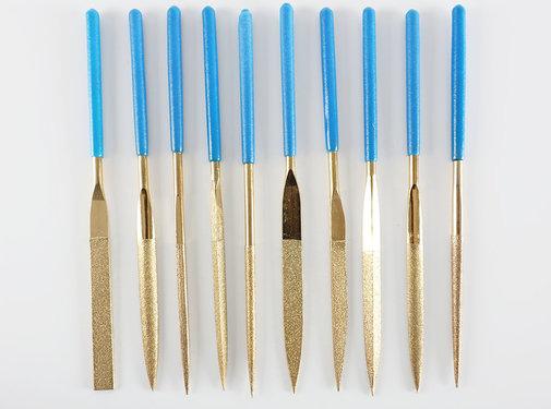 Diamond Files Diamond Needle File Set 10-Pcs. 180mm Long K-100 Grid Rough