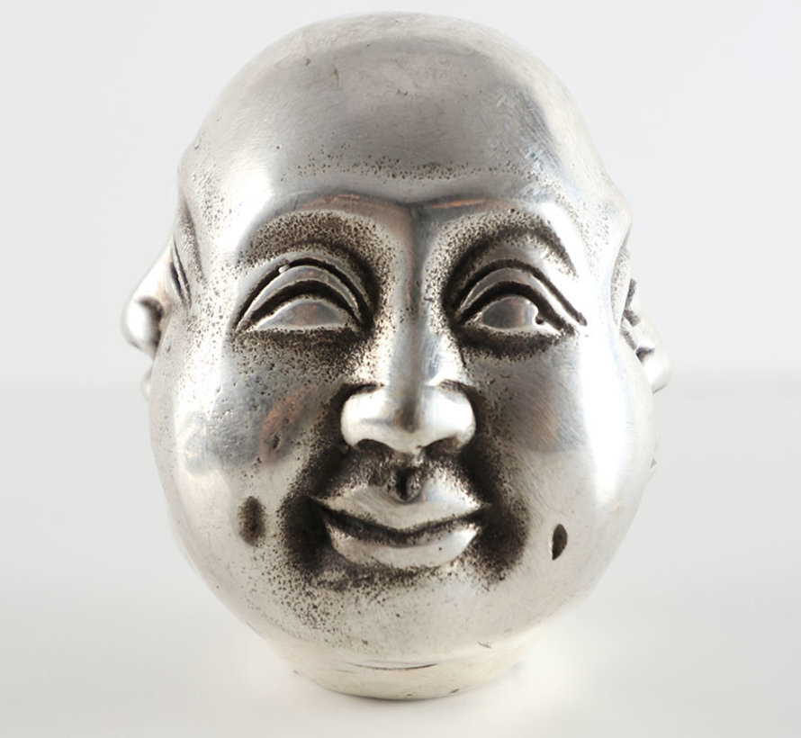 Buddha head with four mood joy anger grief happy
