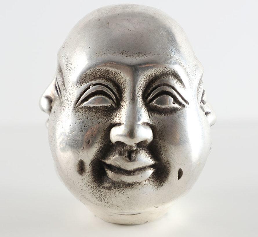 Buddha Kopf mit vier Stimmung Freude Ärger Trauer glücklich